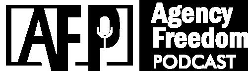 Agency Freedom Podcast Logo_WHITE